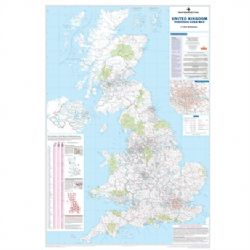 UK Postcode Wall Maps